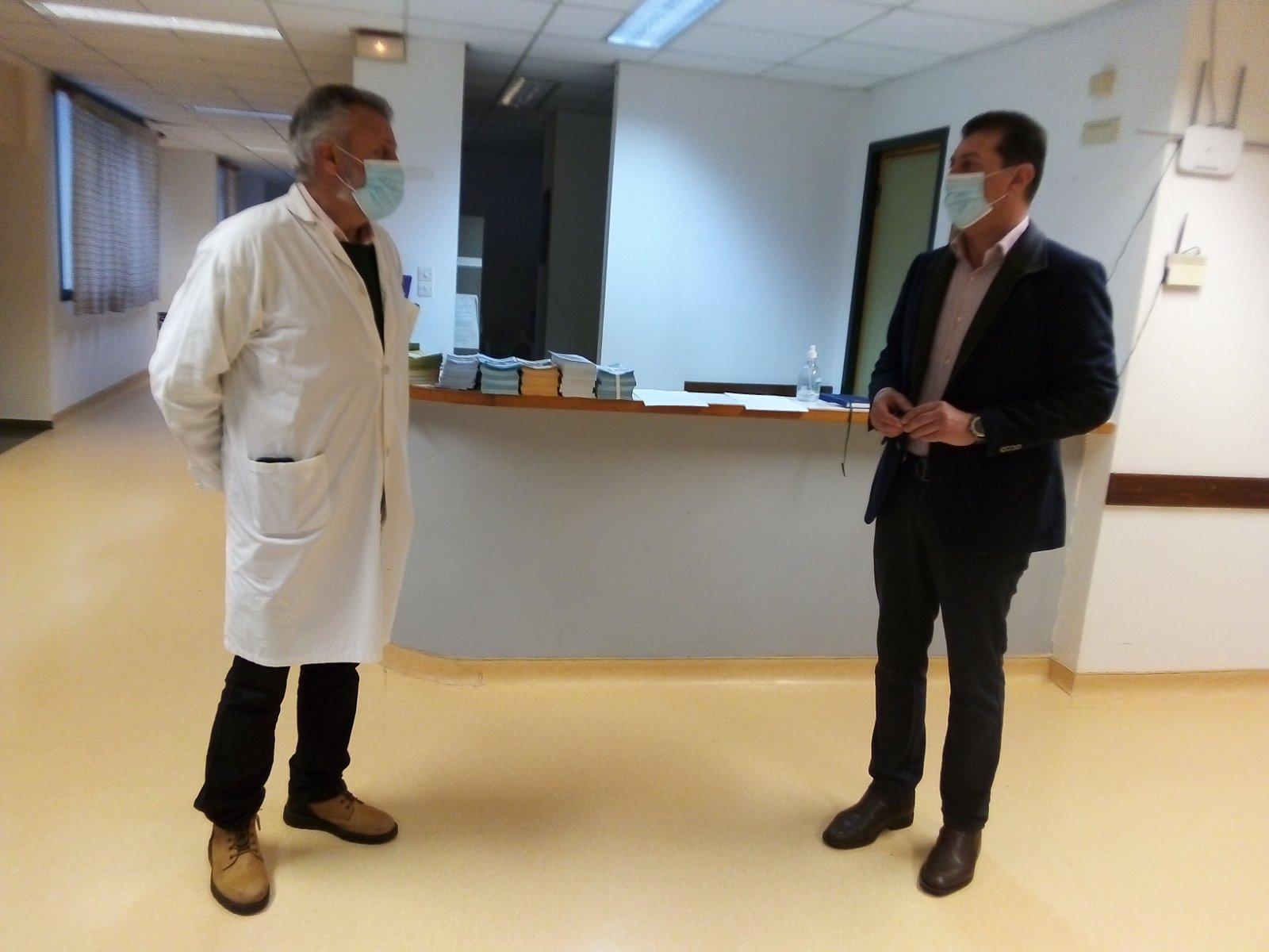 Δελτίο Τύπου - Επίσκεψη του Δημάρχου Δωδώνης στο Κέντρο Υγείας Δερβιζιάνων